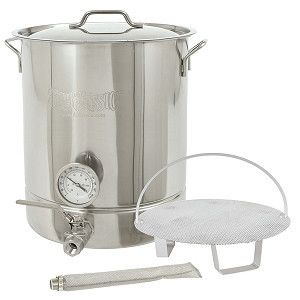 Bayou Classic Six-Piece 16 Gallon Stainless Steel Home Brewing Brew Kettle Set