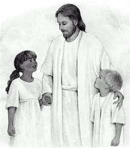 17 Best images about Jesus with child or children in black n white ...