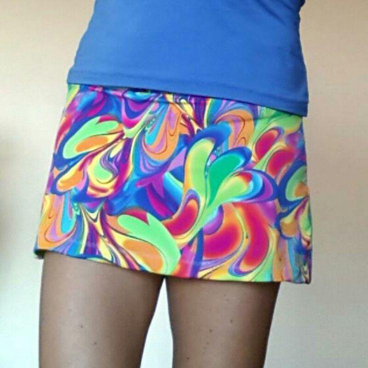 Gonna da tennis fantasia con pantaloncino lilla