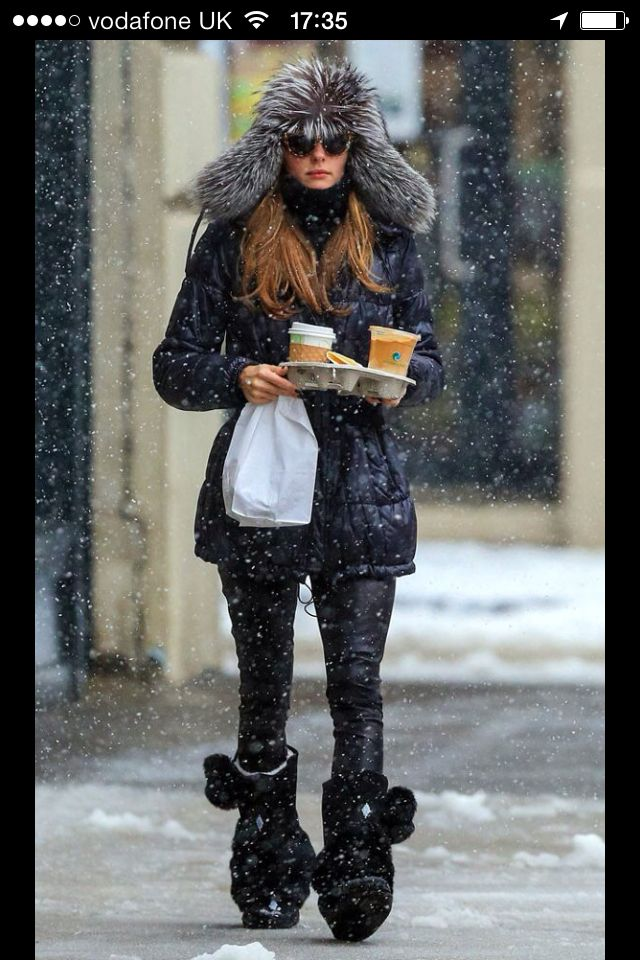 Olivia palermo looking like a stylish little Eskimo