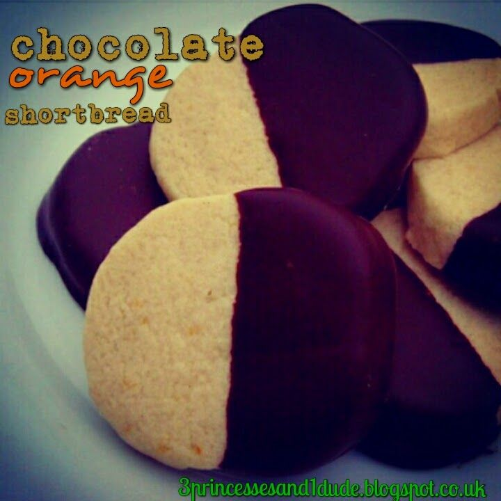 3 Princesses and 1 Dude!: Countdown To Christmas. Recipe. Chocolate Orange Shortbread.