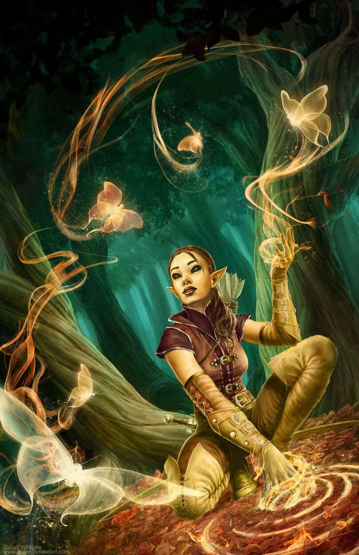 //One With Nature by Dallas-Williams on DeviantArt #art #fantasy #illustration