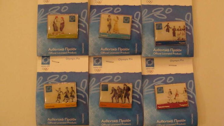 TRADITIONAL+DANCES+COMPLETE+SET+ATHENS+2004+OLYMPIC+PIN