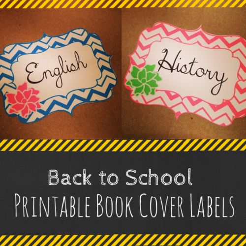 Back to School: Printable School Subject Labels and Silhouette Challenge