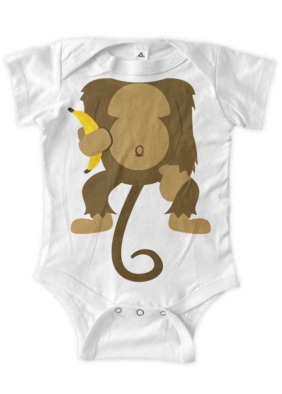Monkey WIth A Banana Baby Costume Little Monkey Baby by BumpCovers