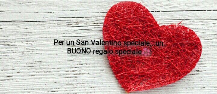 San Valentino sta arrivando!!!  Ti aspettiamo per personalizzare il tuo buono.