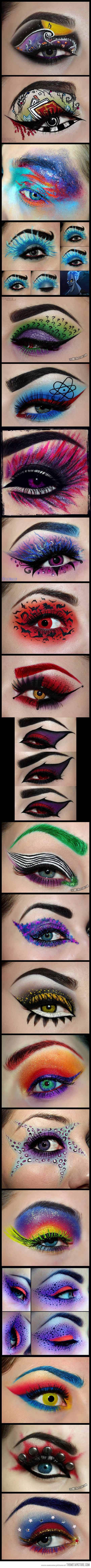 Movie makeup at it's most unique…not fond of the nightmare before Christmas but I like the rest