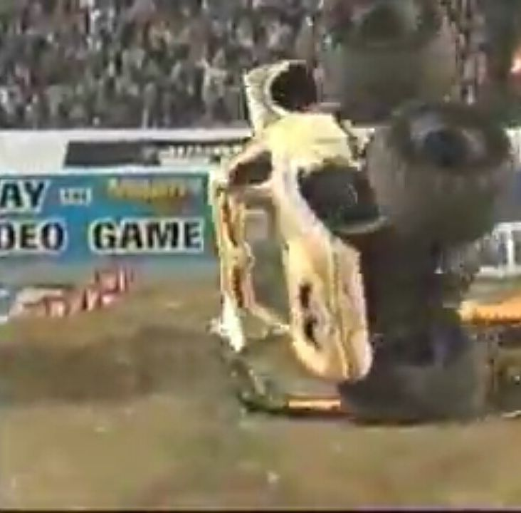 Bulldozer on 2 wheels! Will he save it!? Also can anyone guess when this is from? (Srry for quality)  #monsterjam #nascar #f1 #drifting #racing #mechanic #art #legend #wraps #paint #schemes #Indianapolis #gravedigger #cars #trucks #mechanic #indi #wheelie #stunts #backflip #avengence #yeahhhhhhh
