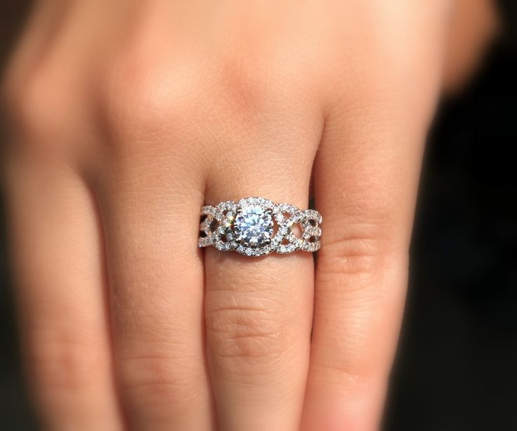Pave Halo X Ring