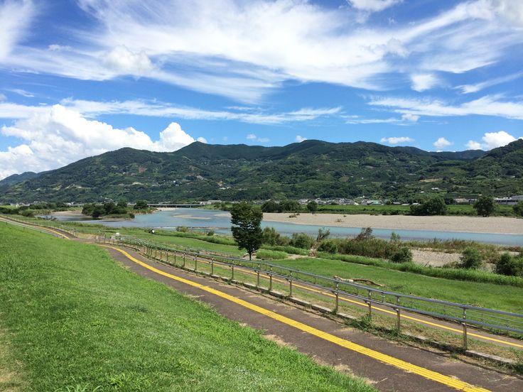 Summer scene of Kinokawa river, Wakayama