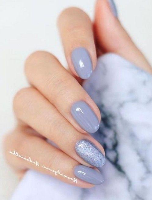 58 beste atemberaubende graue kurze Nägel Design (Acrylnägel Matte Nägel) Sie können lo …