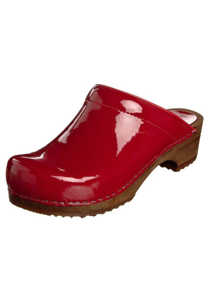 Sanita CLASSIC PATENT OPEN Clogs red