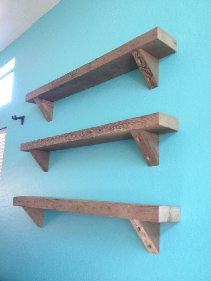 Reclaimed Hemlock Barn Wood Shelving.