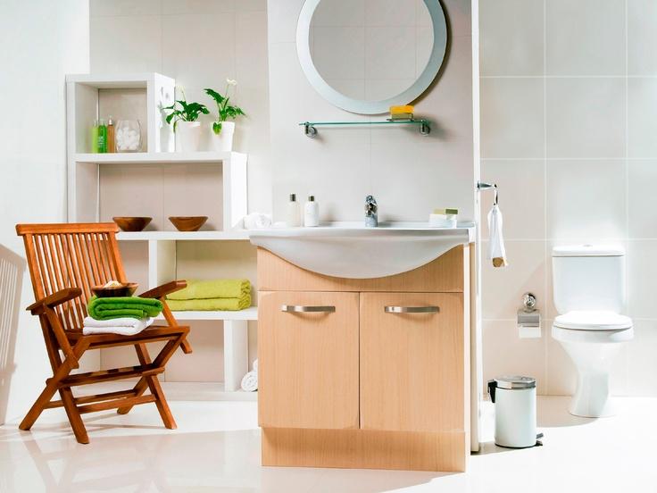 Hace tiempo que el baño dejó de ser un lugar sin estilo y diseño.  #Bano #VanitorioDiseno #BanoModerno www.easy.cl