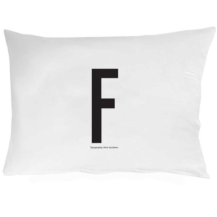 design letters putetrekk 50x70 F