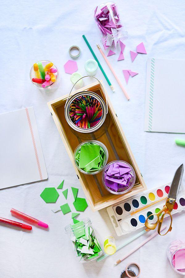 Kid S Art Supply Crate Art For Kids Diy For Kids Art Supplies
