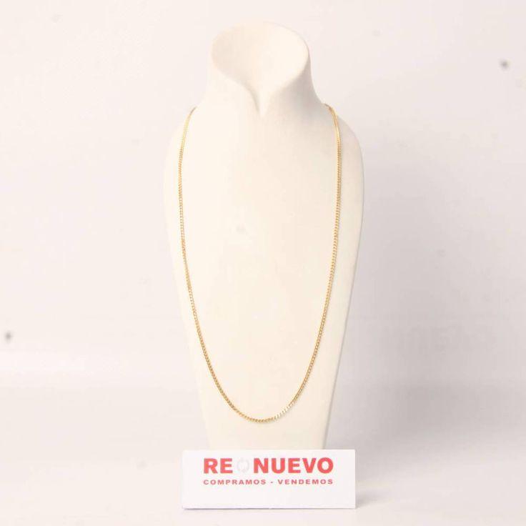 Cadena barbada de oro macizo de 18 kiltes de segunda mano E277266A | Tienda online de segunda mano en Barcelona Re-Nuevo