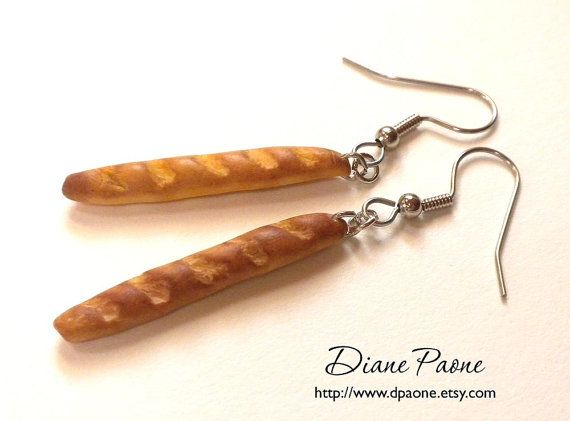 French Baguette Earrings from Etsy