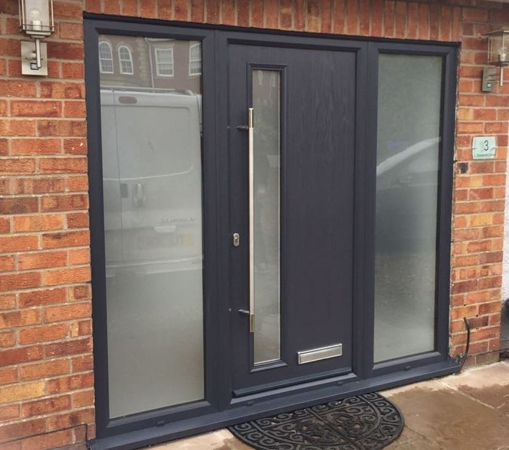 Anthracite Grey Shardlow Composite Door With Two Side Panels & 21 best Ultimate Doors Scunthorpe images on Pinterest