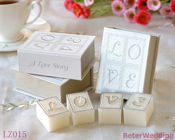 Love Letters Book Candle Romantic Valentines Mothers Day Wedding