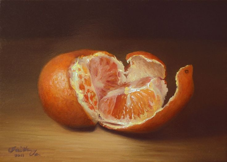 unwrapped-orange-painting-video-slideshow.jpg (1401×1000) painting by Faith Te