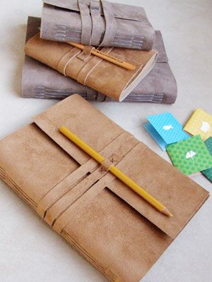 Writing Gift – Etsy Handmade Leather Notebook - Redbook