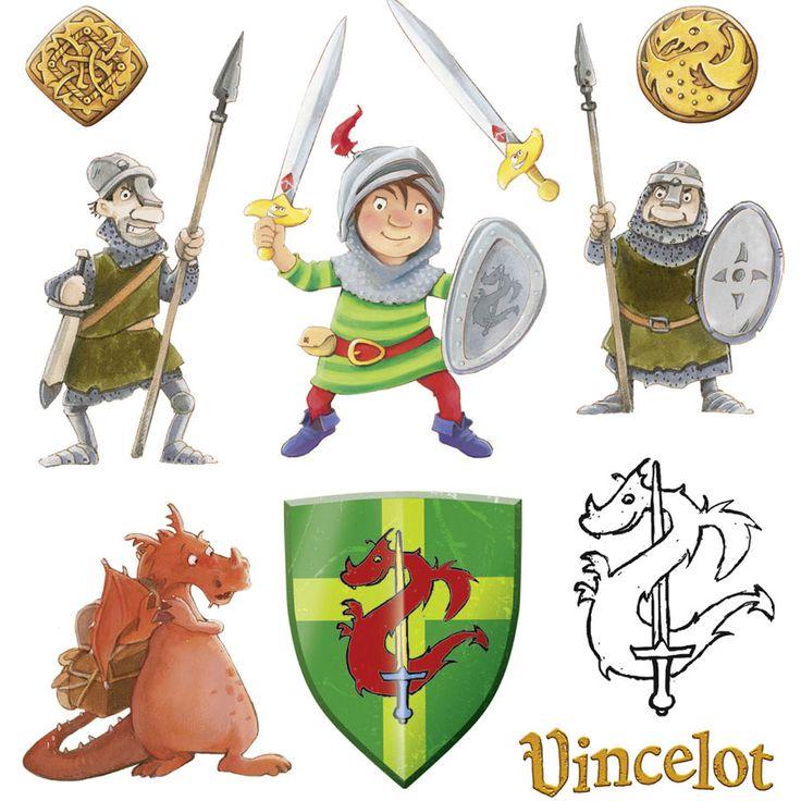 Tatouages chevalier vincelot pour l'anniversaire de votre enfant - Annikids