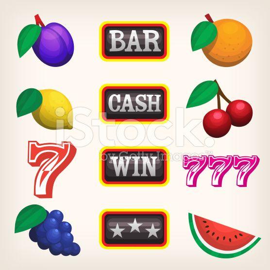 Slot machine icons royalty-free stock vector art
