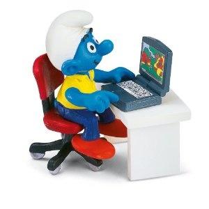 Schleich Smurf with Laptop