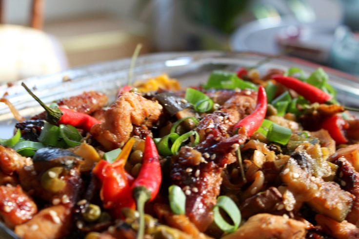Thai kylling m. Grøntsager