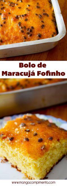 Receita de Bolo de Maracujá fofinho, para comer no lanche da tarde. #receita #comida #bolo #BoloDeMaracujá #doce #sobremesa #maracujá