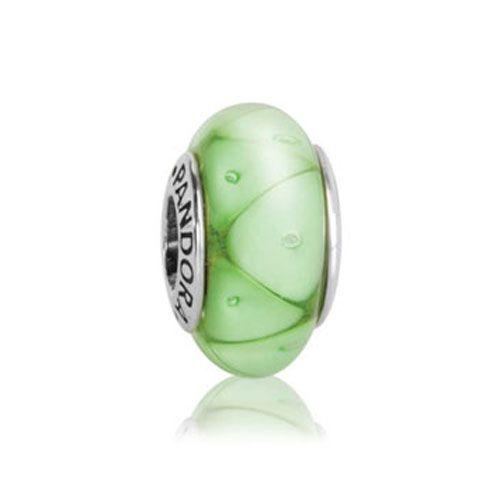 Pandora Green Looking Glass Murano Charm