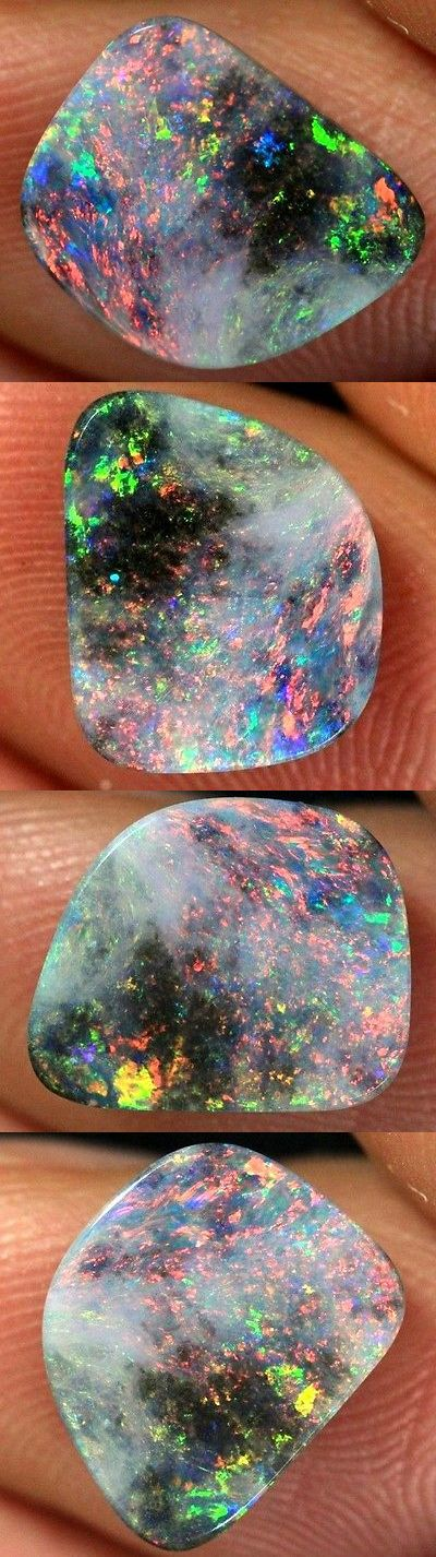 Other Opals 3826: 1.5 Ct Natural Multicolored Lightning Ridge Solid Semi Black Opal Stone -> BUY IT NOW ONLY: $112.5 on eBay!