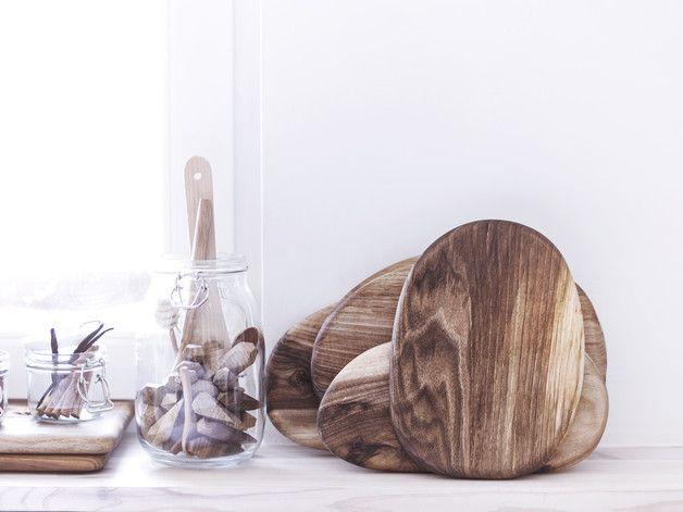 DESKA orzechowa owalna do serwowania, krojenia - NORdsgn - Deski do krojenia