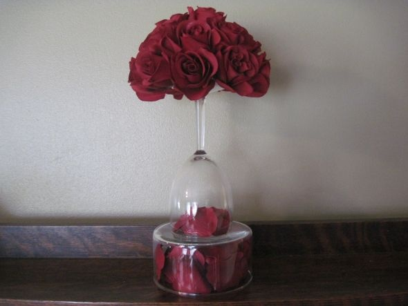 17 Best Images About Wine Glass Centerpieces On Pinterest