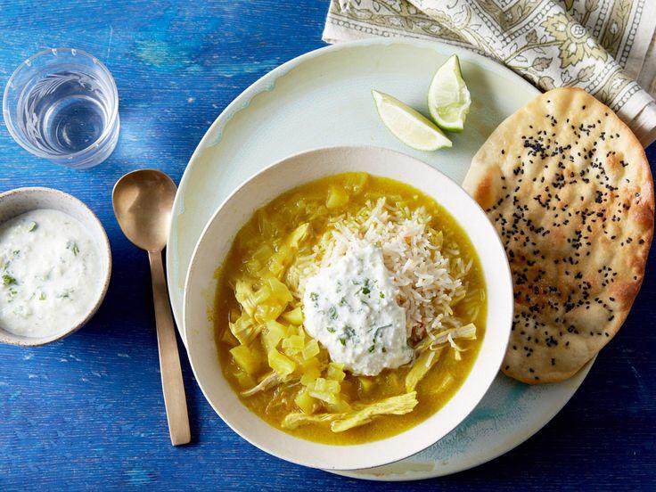 Mulligatawny and Green Raita recipe from Rachael Ray via Food Network