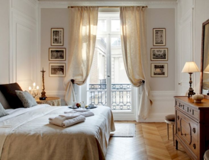 Parisian Bedroom. 52 Simple Decor That so Perfect for Rental Apartment Mer enn 25 bra ideer om Parisian style bedrooms p  Pinterest