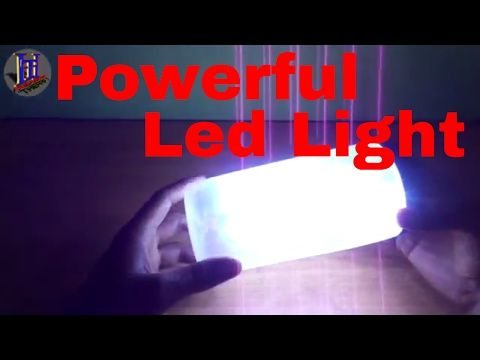 How to make a Powerful Rechargeable LED Emergency Light at [ home ] - YouTube
