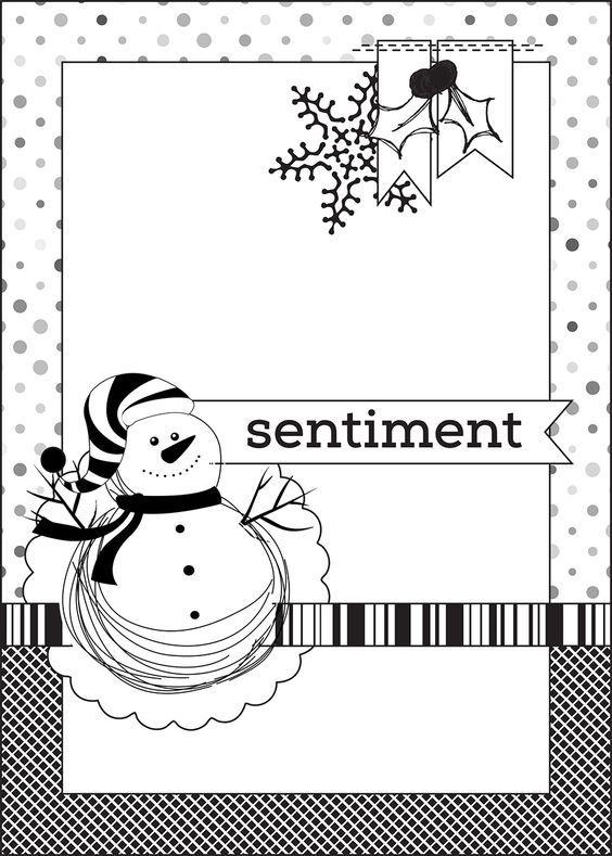 Скетчи для открыток новый год