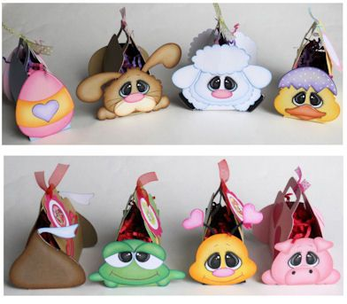 Treasure Box Designs Basket Buddies punch art animals Easter basket