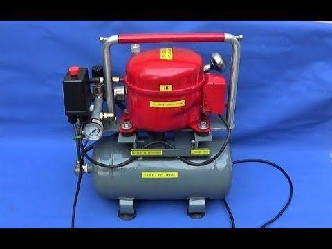Make A Silent Air Compressor & Making A Custom Chrome Air Filter - YouTube