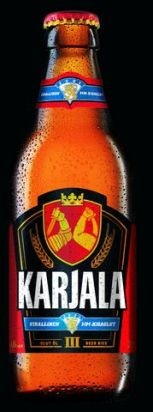 Beer. cOMMON JOKE HERE: wE'LL TAKE kARJALA (cARELIA / kARELIA) bACK EVEN iF we were FORCEd TO DRINK IT BOTTLE BY BOTTLE.