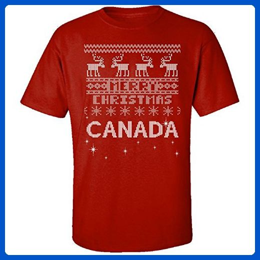 Canada Ugly Christmas Sweater - Adult Shirt L Red - Holiday and seasonal shirts (*Amazon Partner-Link)
