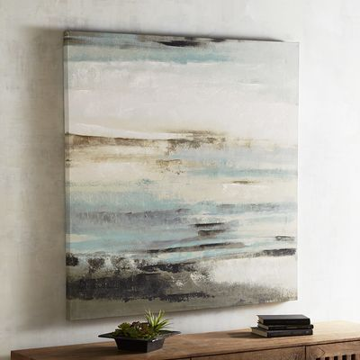 Enhanced by hand-painted detailing, our stormy landscape has a haunting romance that will bring intrigue to any space. The soft neutral tones mix with dark moody hues to create an elegantly versatile artwork.