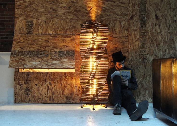 Cardboard Floor Lamp