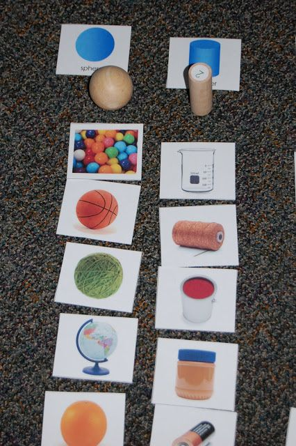 We later played a game with the cards. Students would draw a card and then say the solid name . I may turn the photographs into a Smartboard file for sorting that way as well. These cards are now in the math center for independent practice.