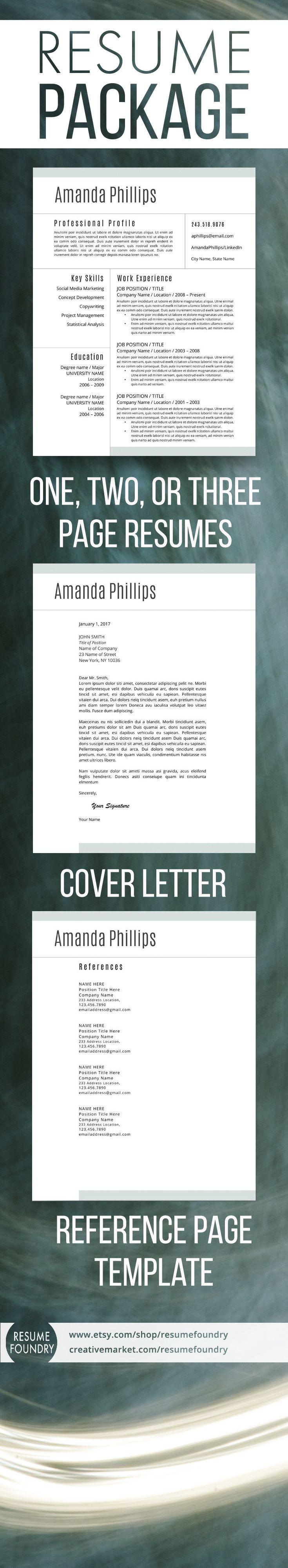 191 best modern resume templates images on pinterest