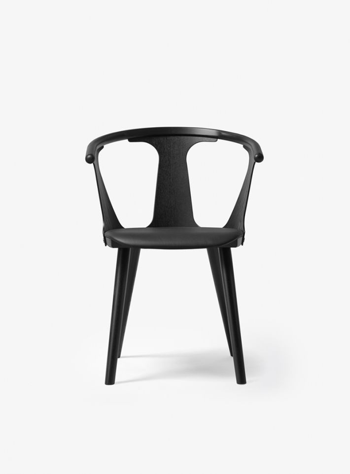 In Between chair with upholstered seat / dining chair / conference chair / office chair / stol / spisestue stol, møde stol