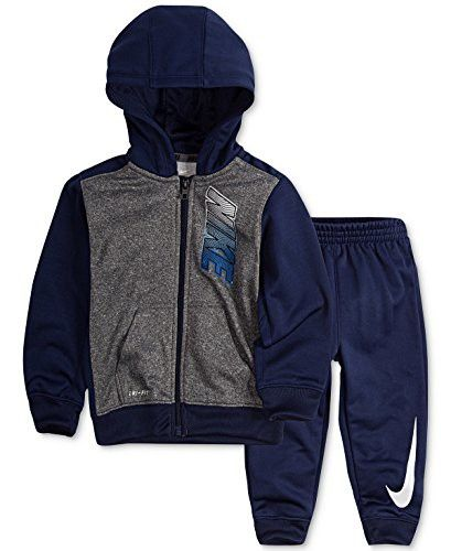 0750f46d64eb Nike Baby Boys` Therma-Fit Hoodie   Jogging Pants 2 Piece Set