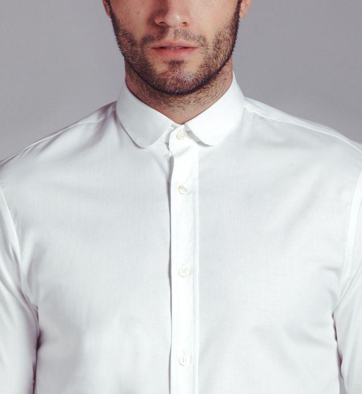 Penny collar shirts round collar shirt simon simon for Round collar shirt men